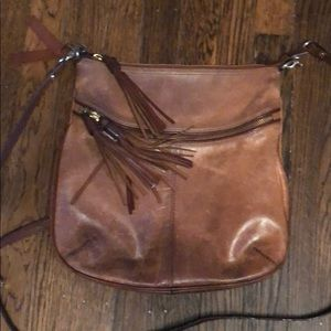 Genuine leather cross body